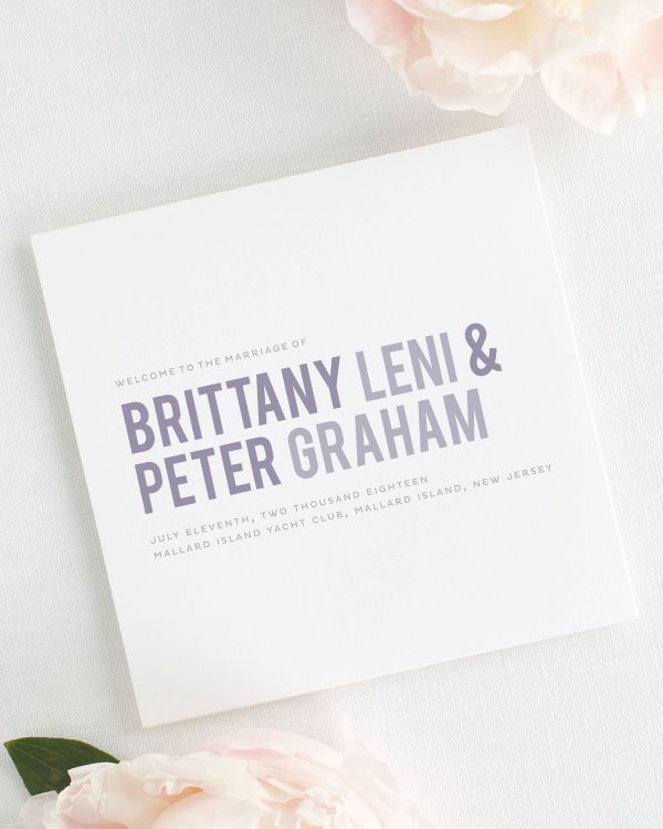 Modern Stack Wedding Programs