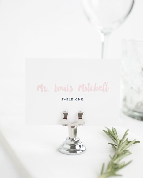 Modern Strokes Place Cards