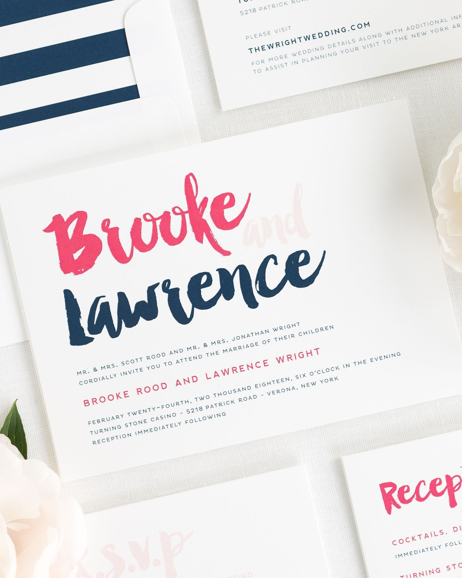 Modern Strokes Wedding Invitations