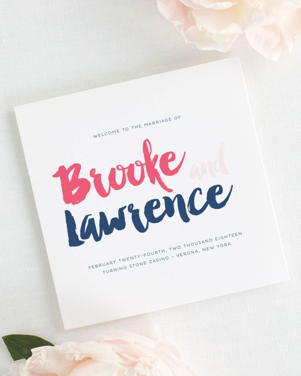 Modern Strokes Wedding Programs