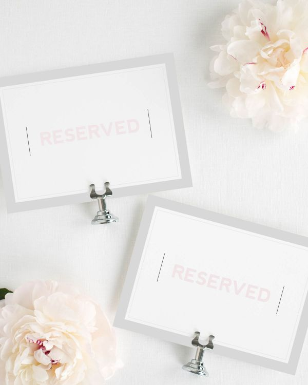 Modern Initials Reserved Signs
