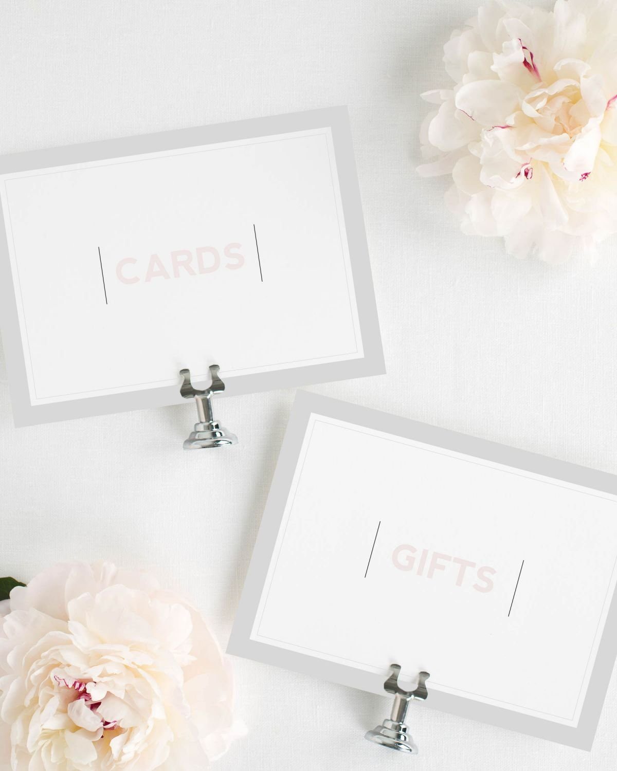 Modern Cards and Gifts Wedding Signs