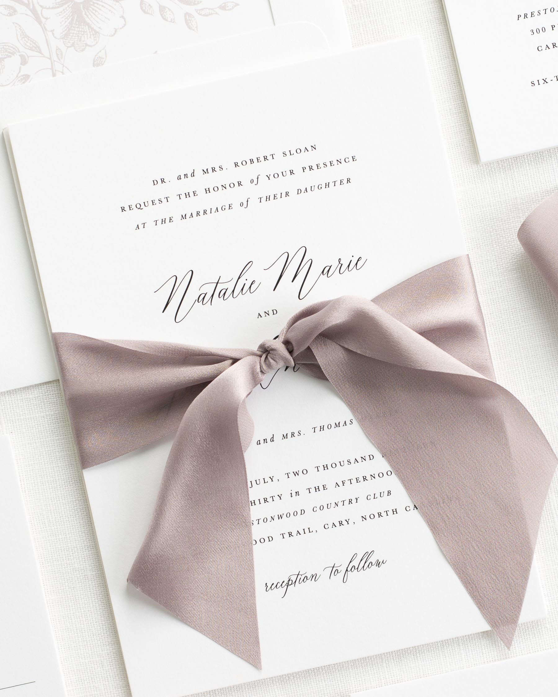 Natalie Ribbon Wedding Invitations