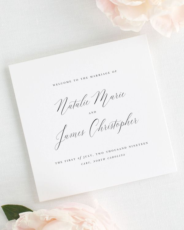 Natalie Wedding Programs