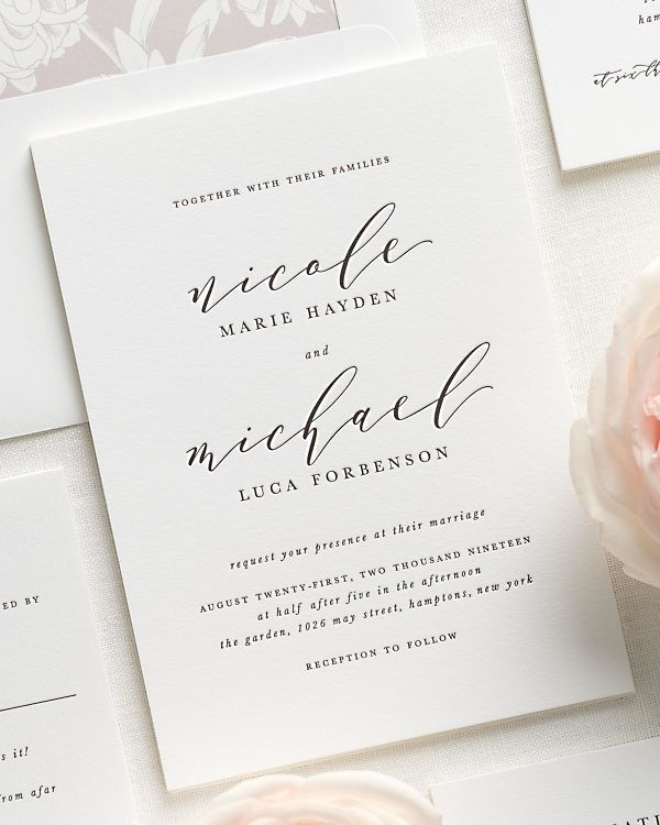 Nicole Letterpress Wedding Invitations