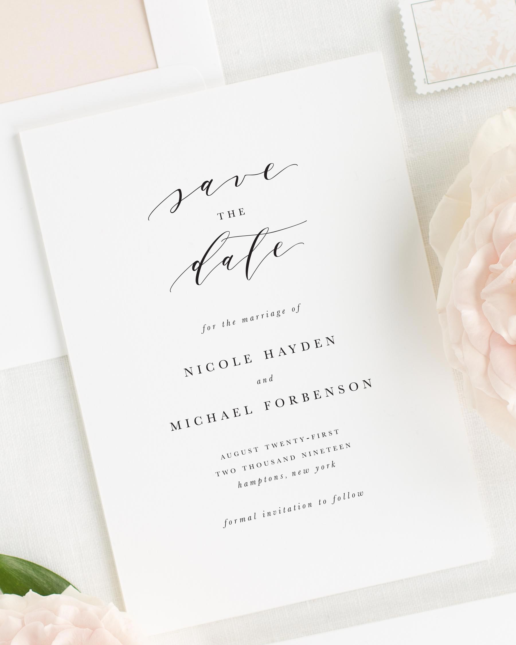 Nicole Save the Date Cards - Save the Date Cards by Shine