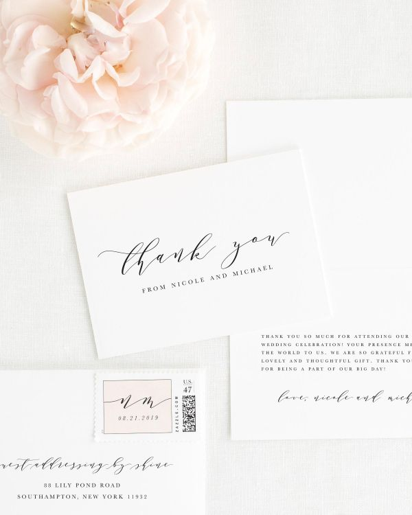 Nicole Thank You Cards