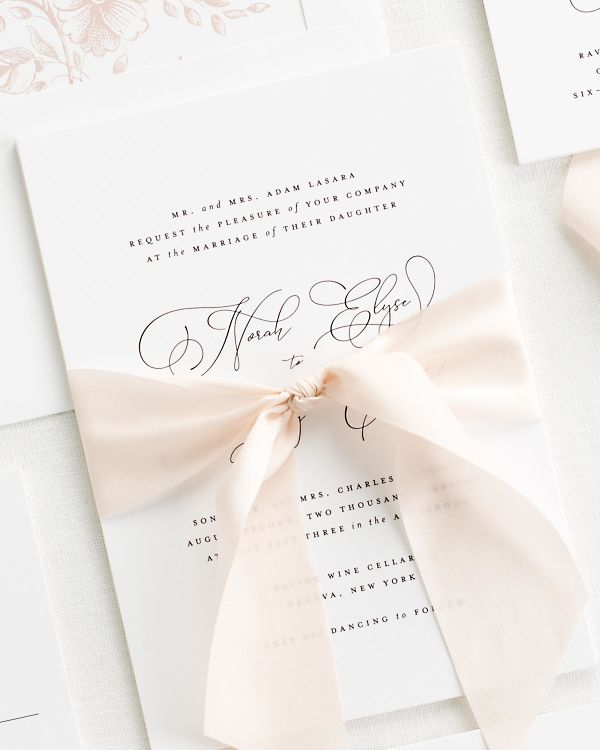Norah Ribbon Wedding Invitations