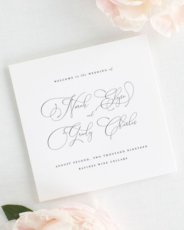 Norah Wedding Programs