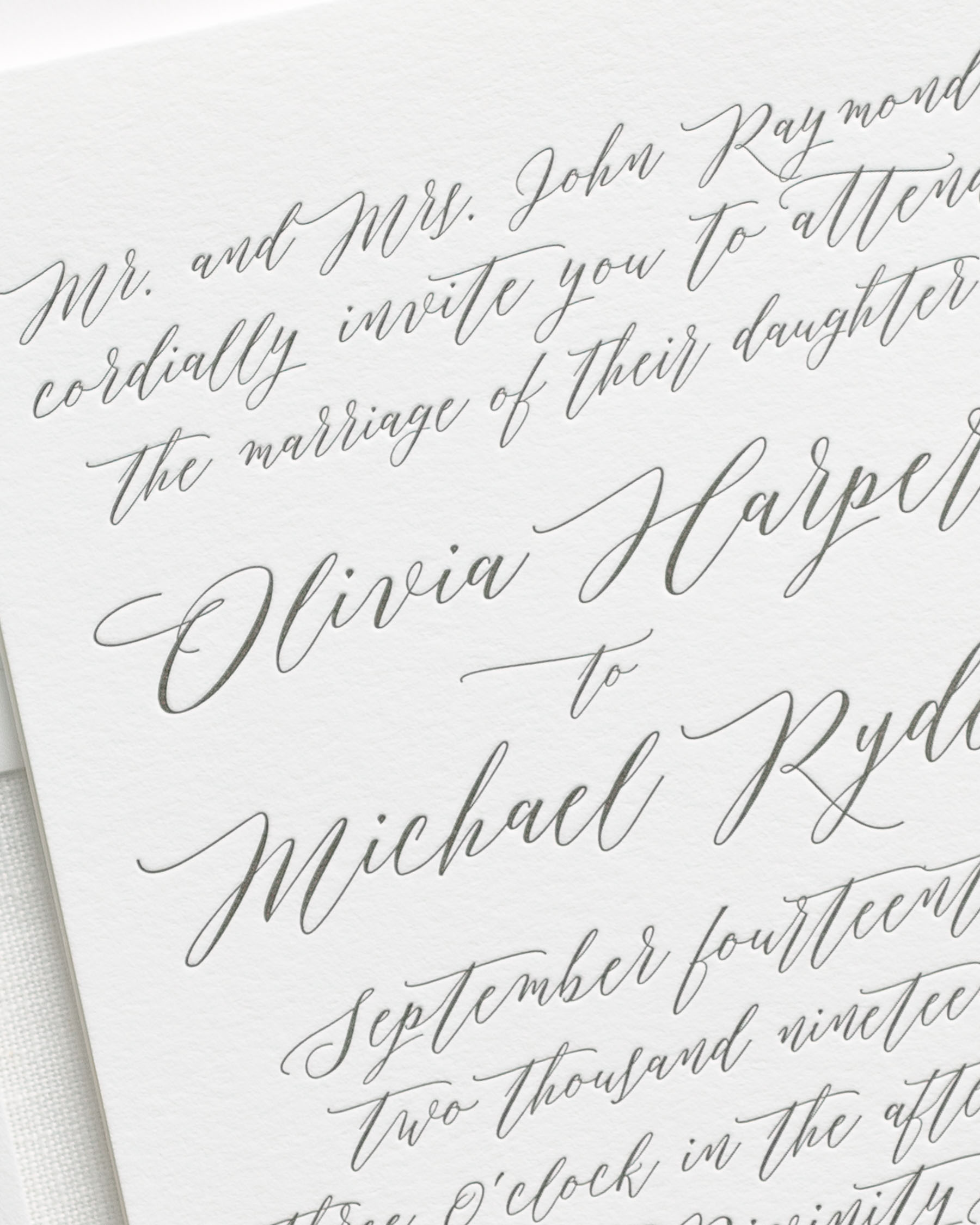 Handwritten Wedding Invitations Examples Best Custom Invitation