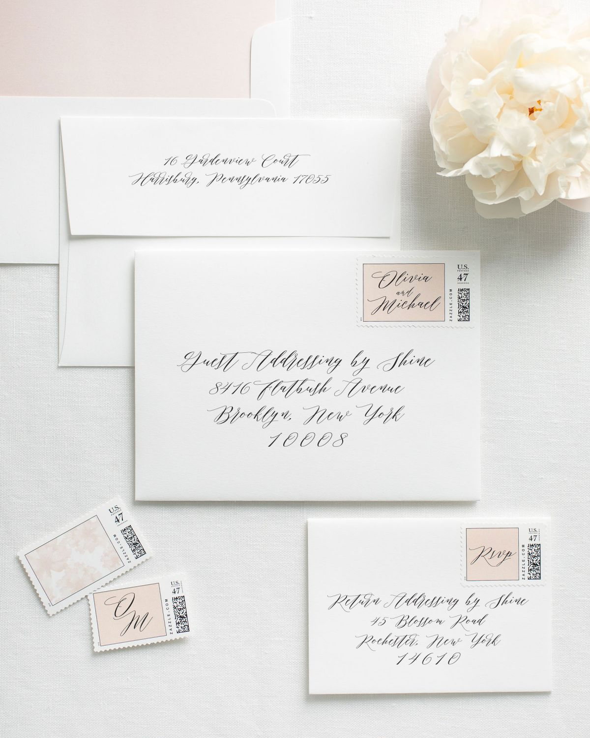 Wedding Invitation Envelopes with Calligraphy Addressing