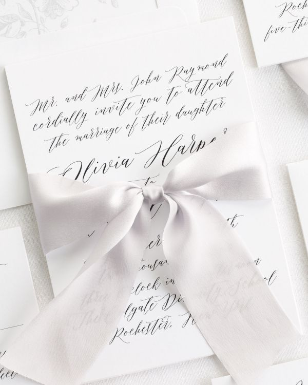 Olivia Ribbon Wedding Invitations