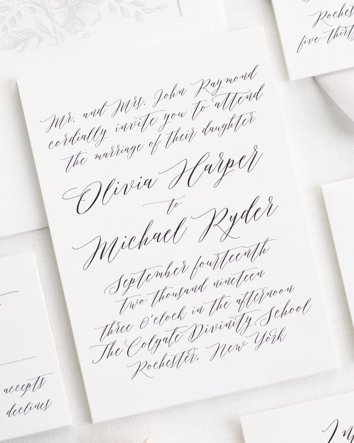 All Script Wedding Invitations