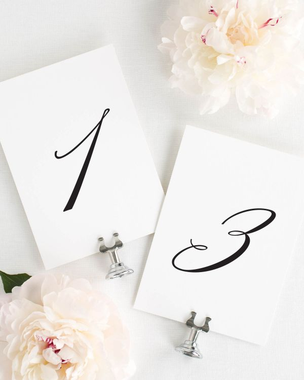 Olivia Table Numbers