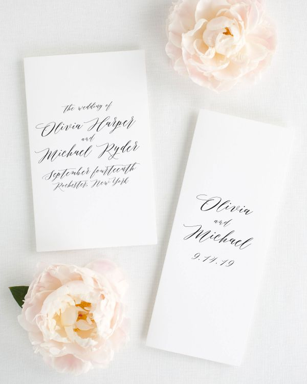 Olivia Booklet Wedding Programs