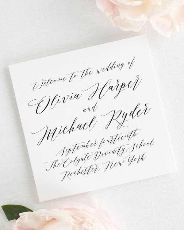 Olivia Wedding Programs