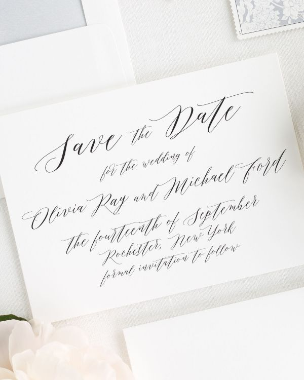 Olivia Save the Date Cards