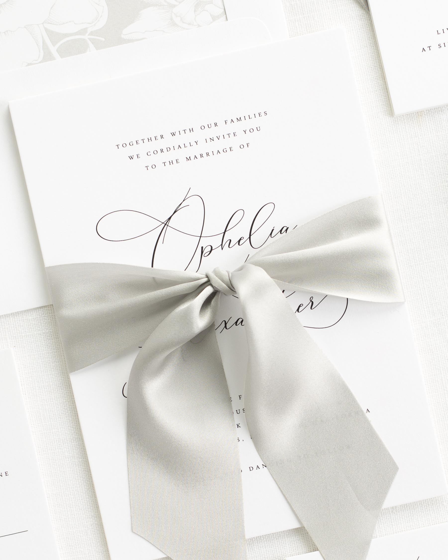 Ophelia Ribbon Wedding Invitations