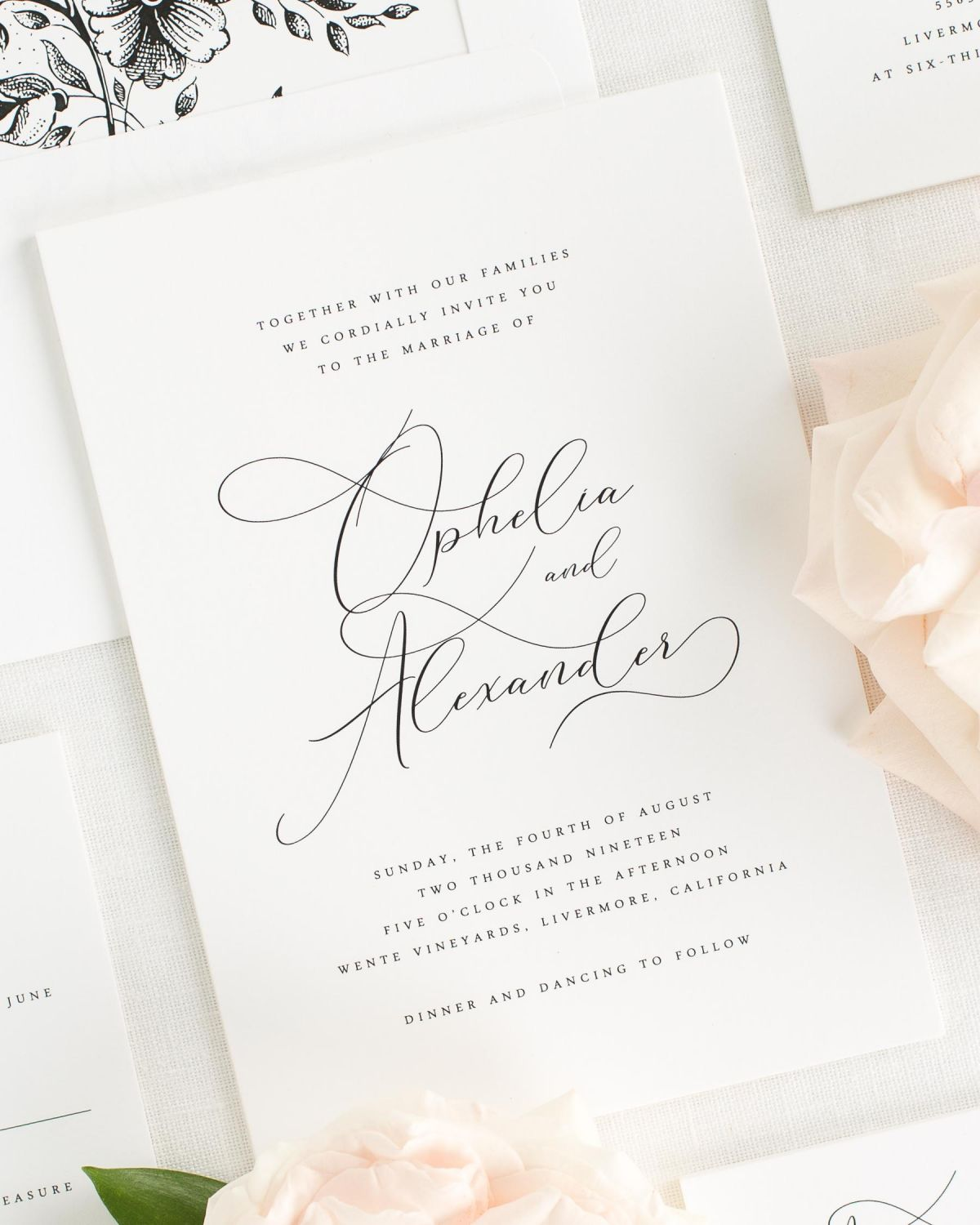 Ophelia Wedding Invitations - Wedding Invitations by Shine