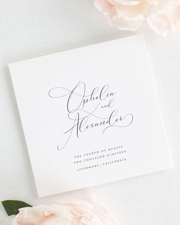 Ophelia Wedding Programs