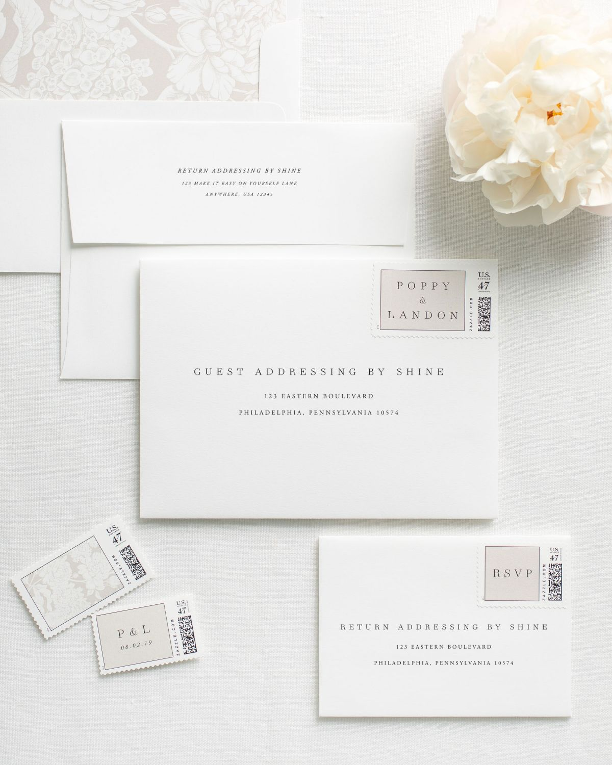 Personalized Envelope Printing for Wedding Invitations