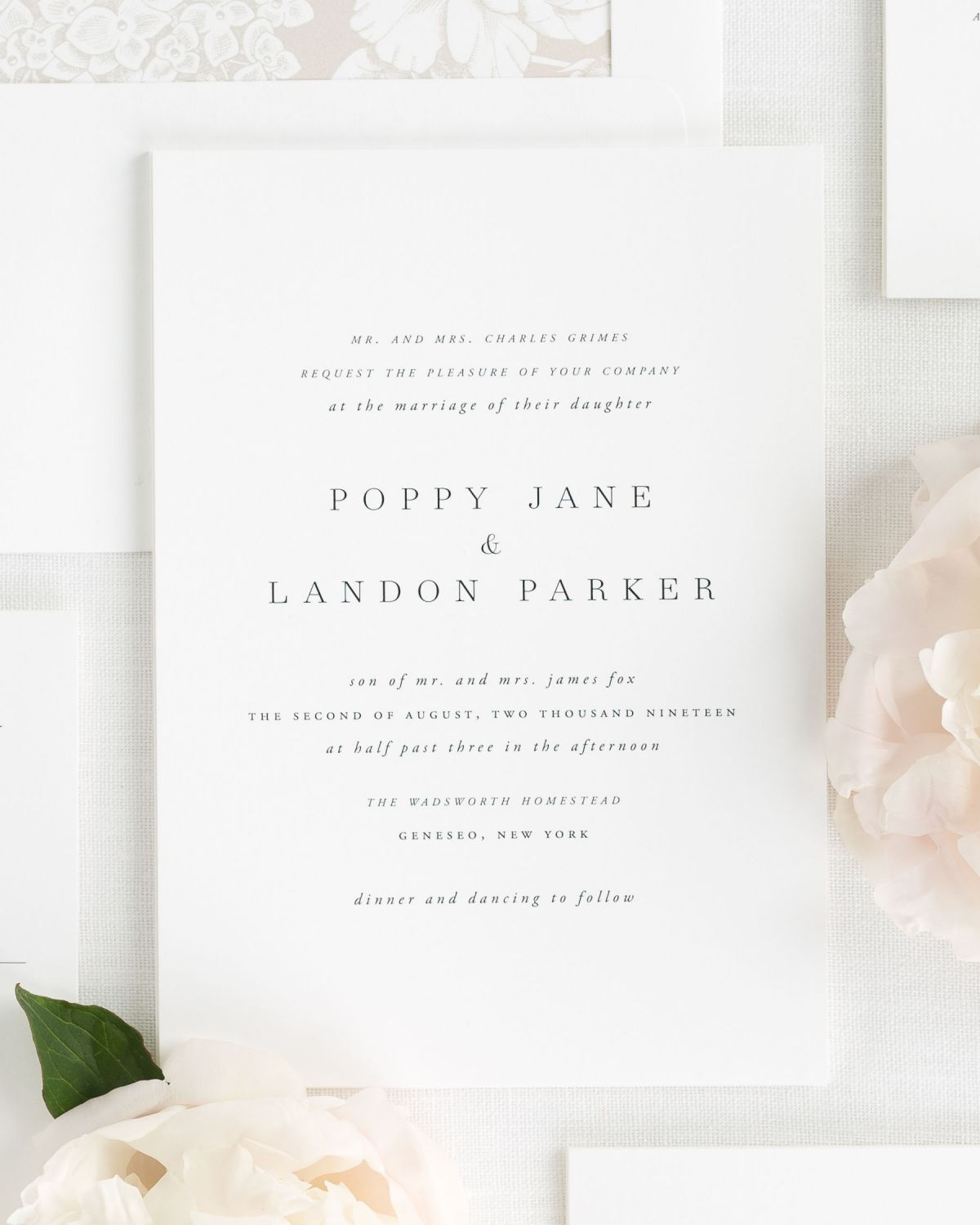 Poppy Wedding Invitations - Wedding Invitations by Shine