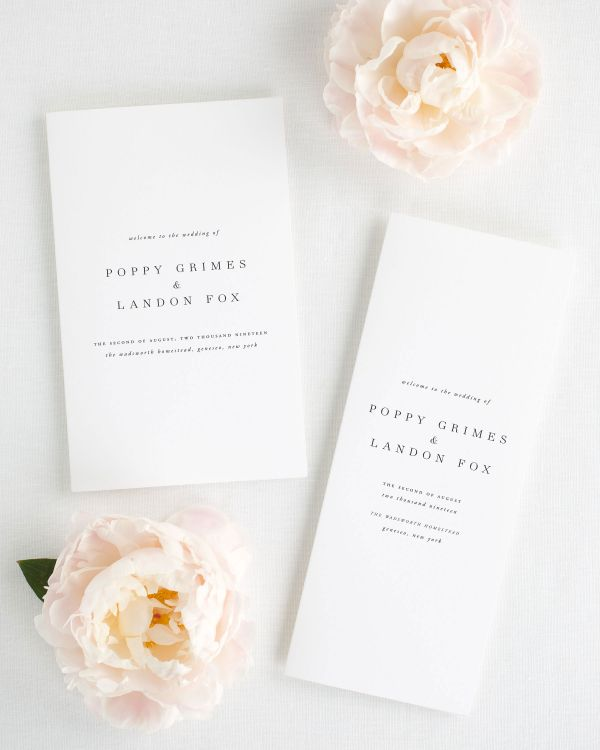 Poppy Booklet Wedding Programs