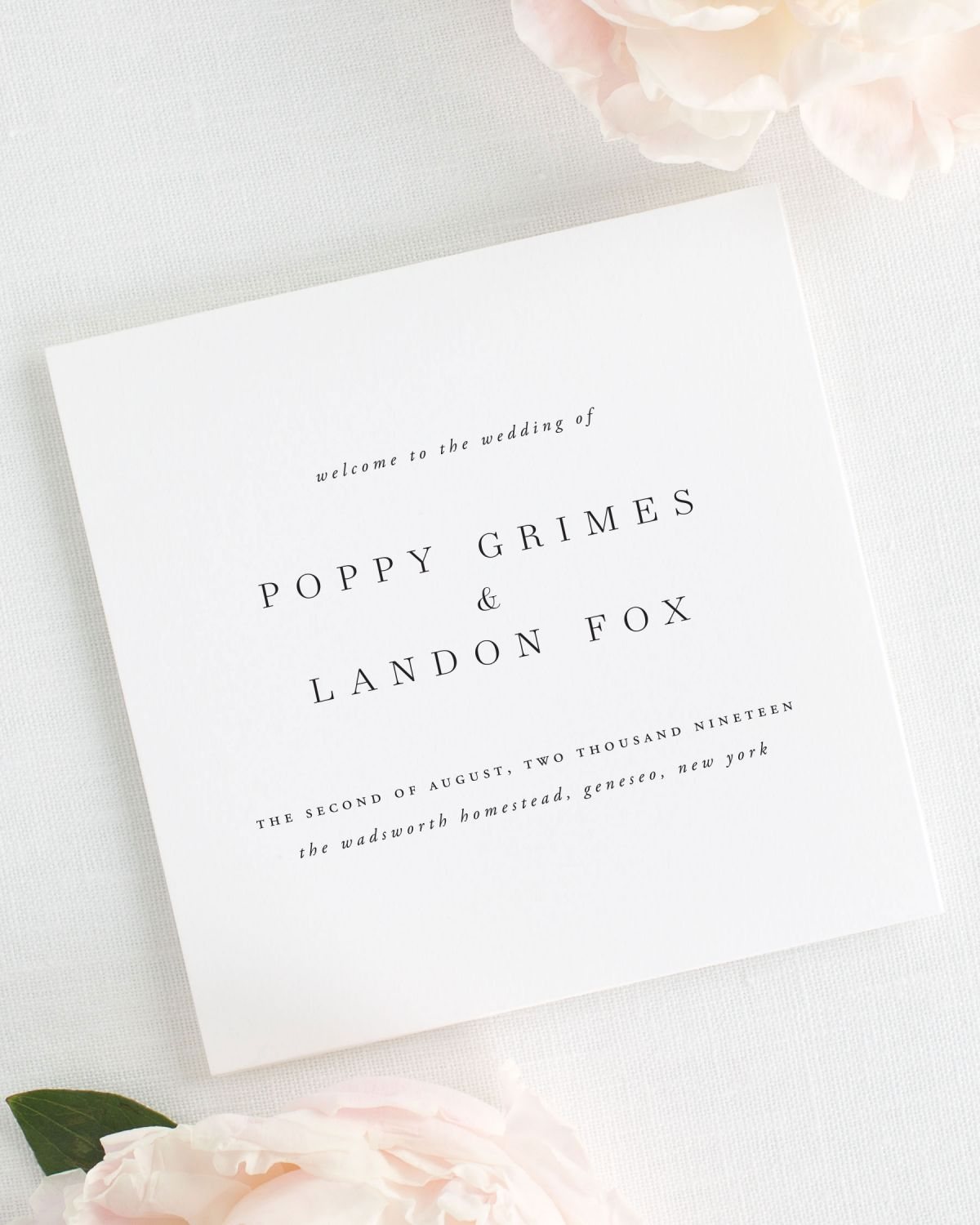 Poppy Wedding Programs Wedding Programs By Shine