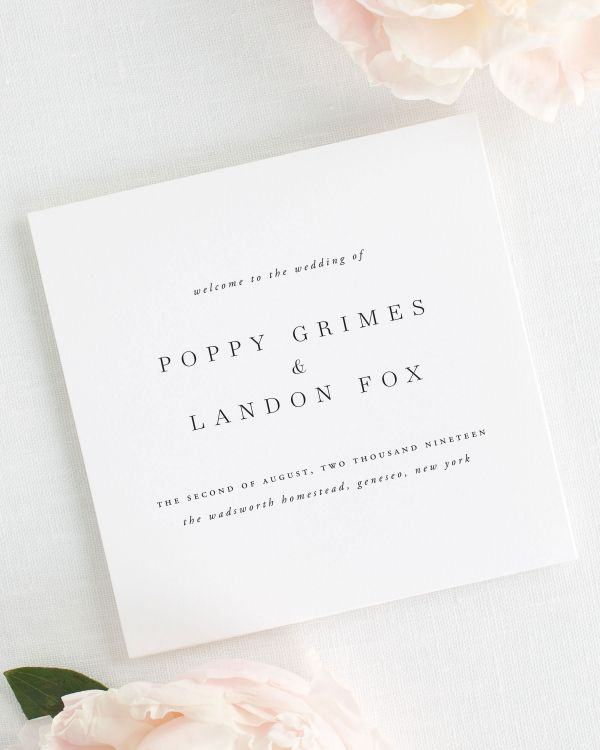 Poppy Wedding Programs
