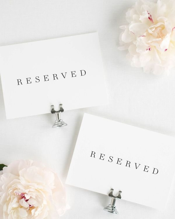 Poppy Reserved Signs