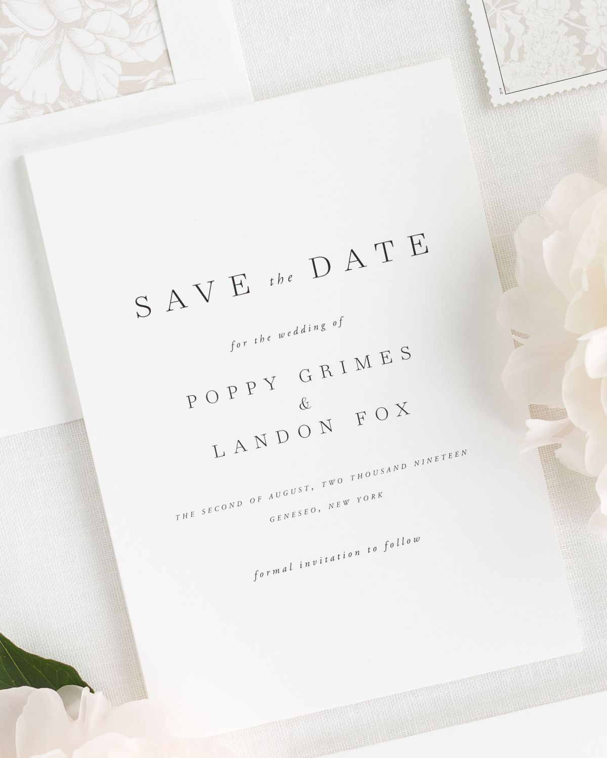 modern and elegant wedding save the dates