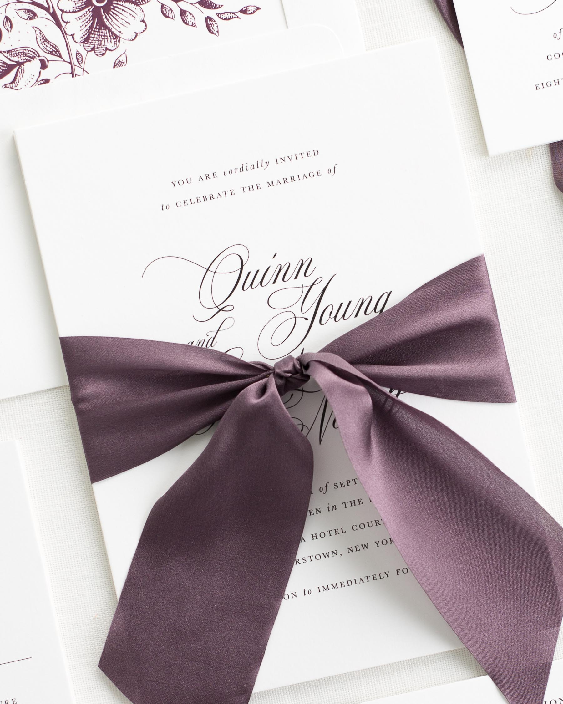 Quinn Ribbon Wedding Invitations