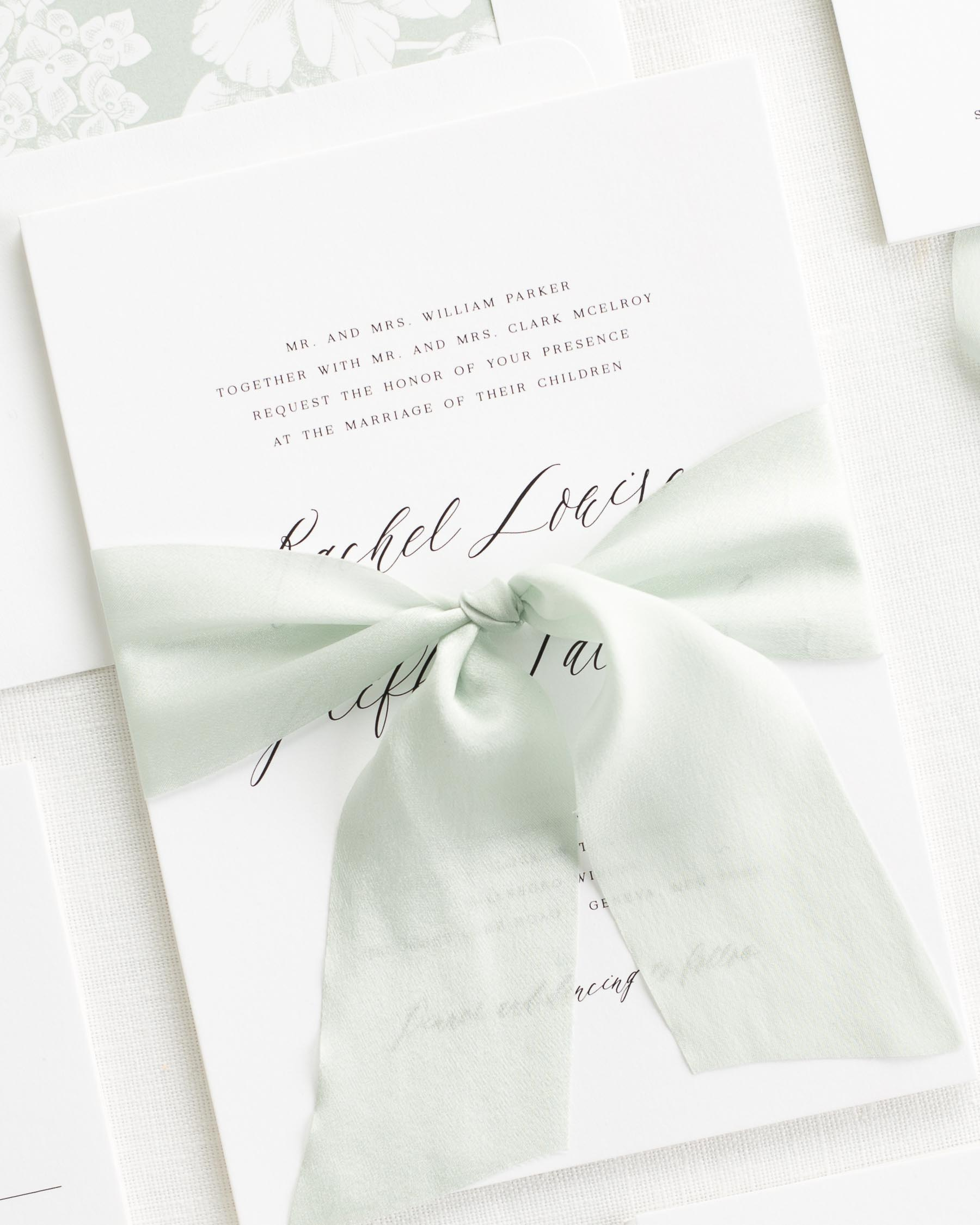 Rachel Ribbon Wedding Invitations
