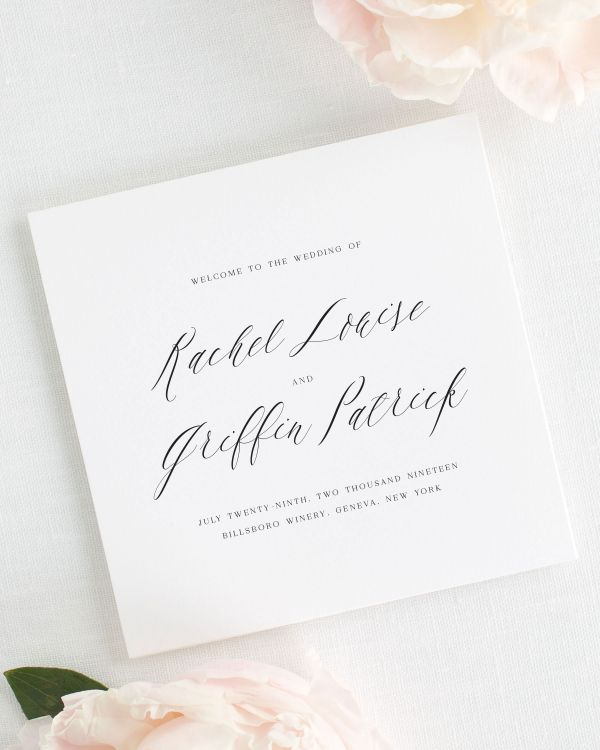 Rachel Wedding Programs