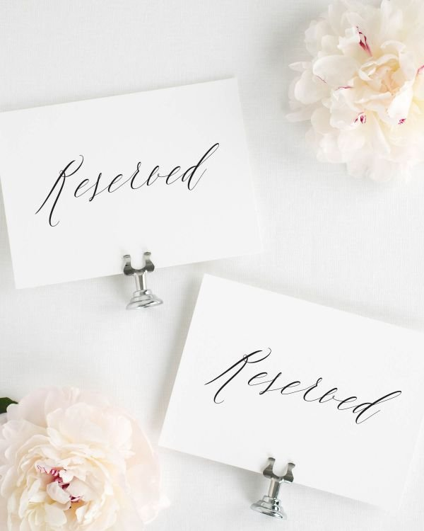 Rachel Reserved Signs