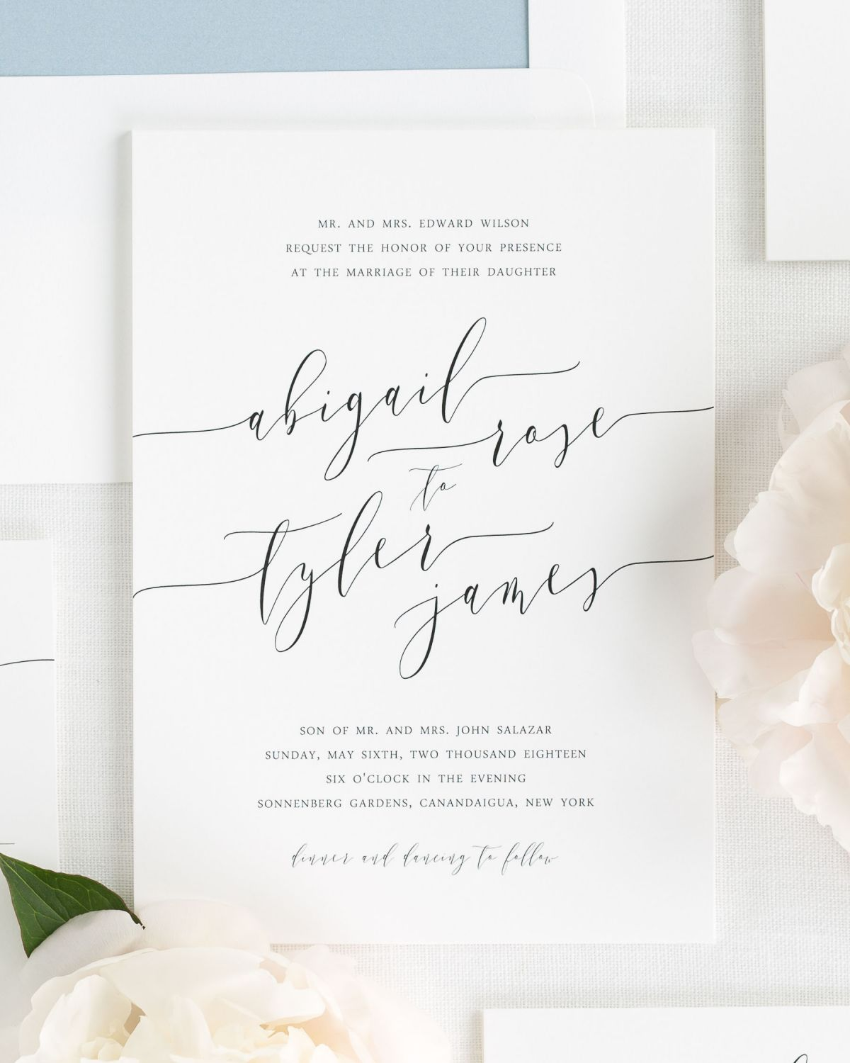 Romantic calligraphy wedding invitations wedding invitations by calligraphy wedding invitations solutioingenieria Image collections