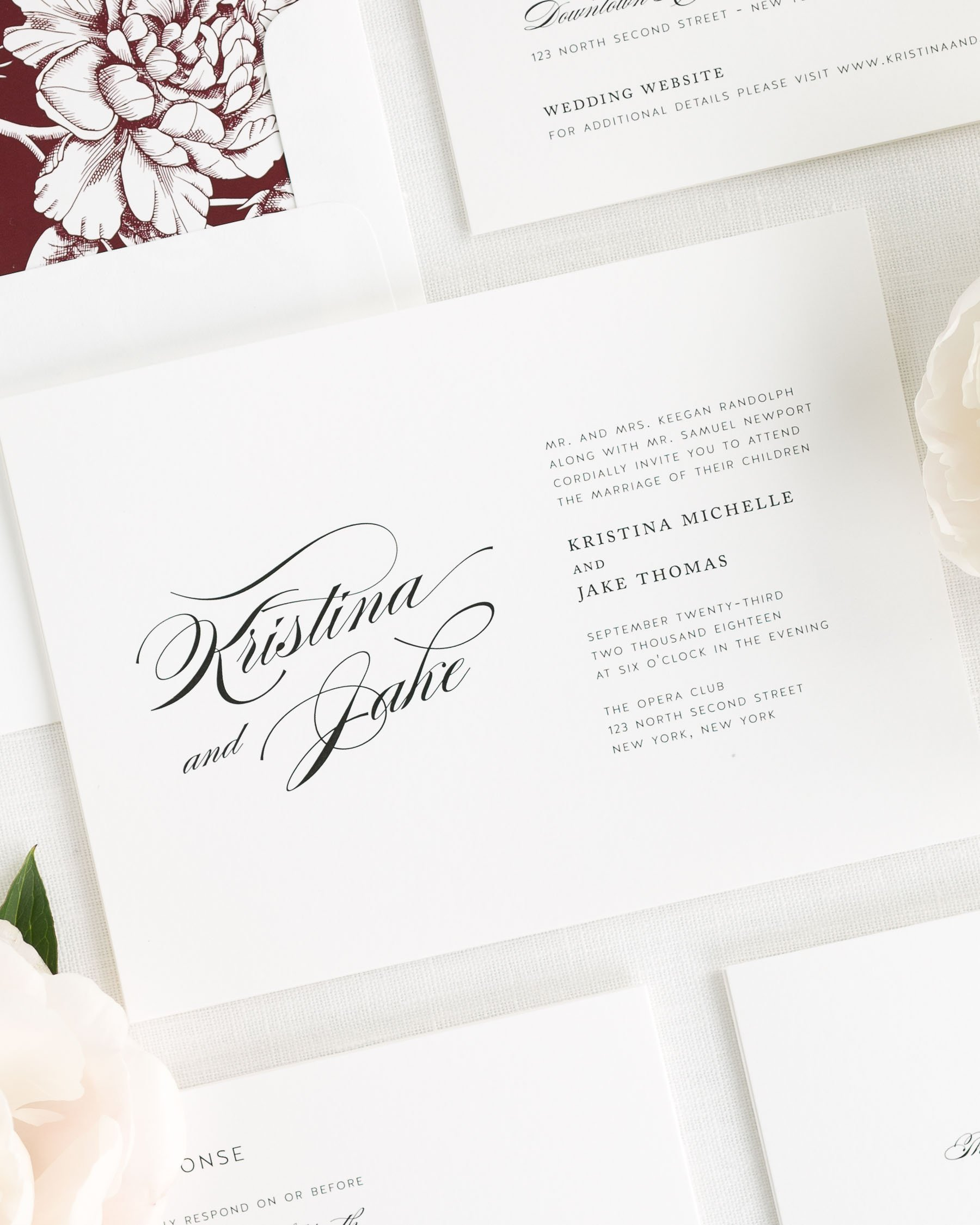 Romantic Glamour Wedding Invitations - Wedding Invitations by Shine
