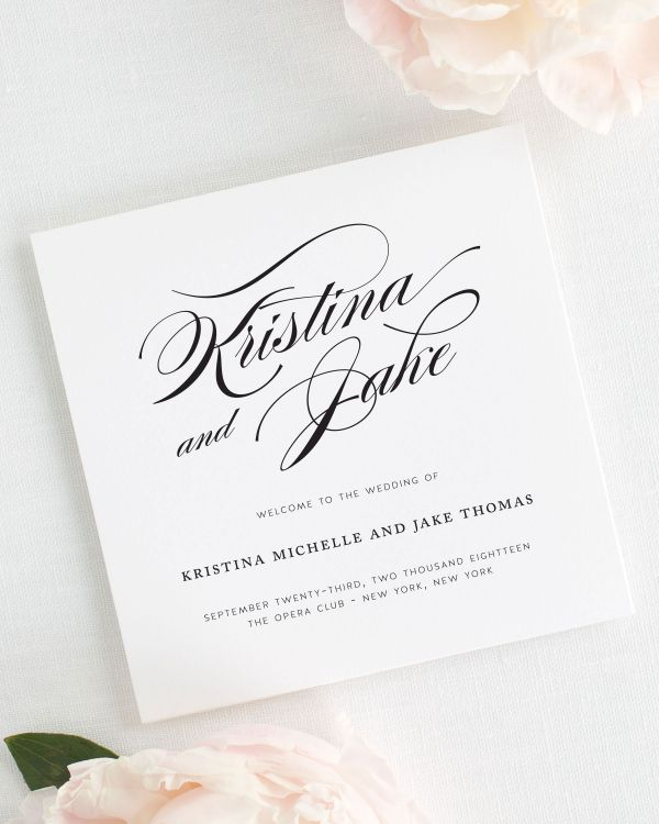 Romantic Glamour Wedding Programs