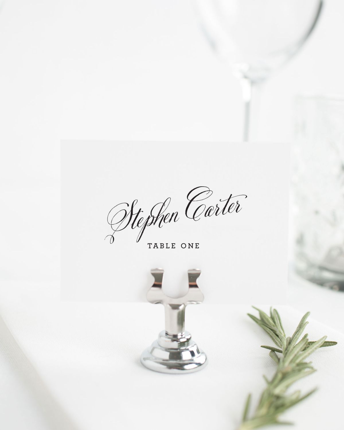 Rustic Modern Place Cards