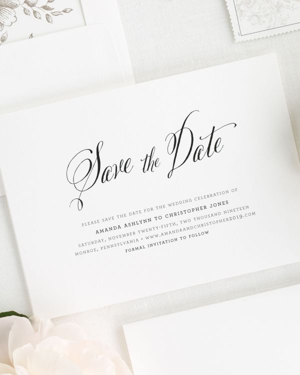 Rustic Modern Save the Date Cards