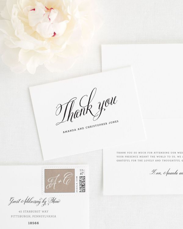 Rustic Modern Thank You Cards