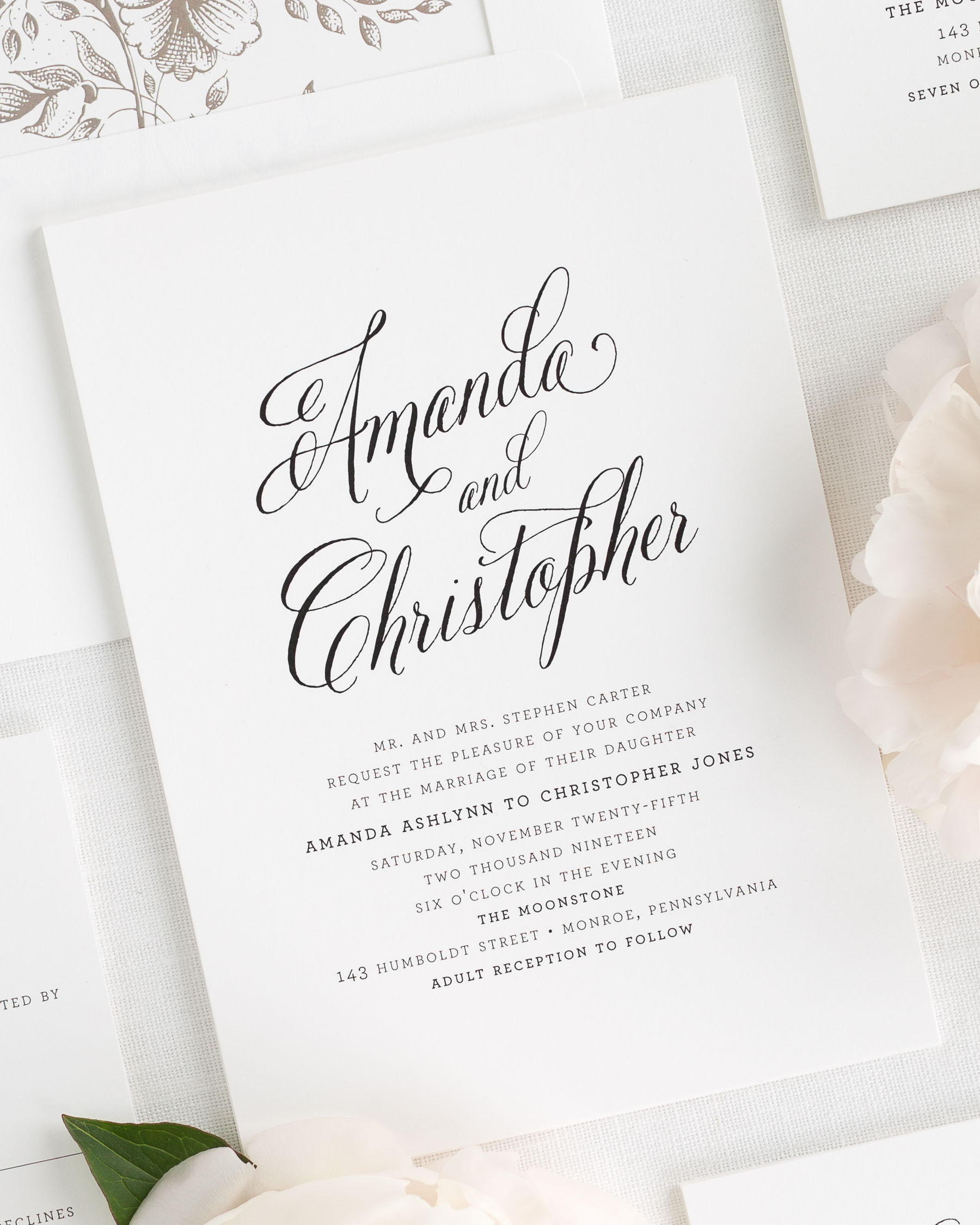 Rustic Modern Wedding Invitations Wedding Invitations by Shine