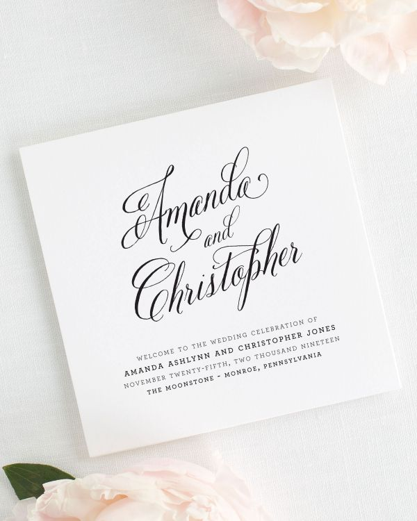 Rustic Modern Wedding Programs