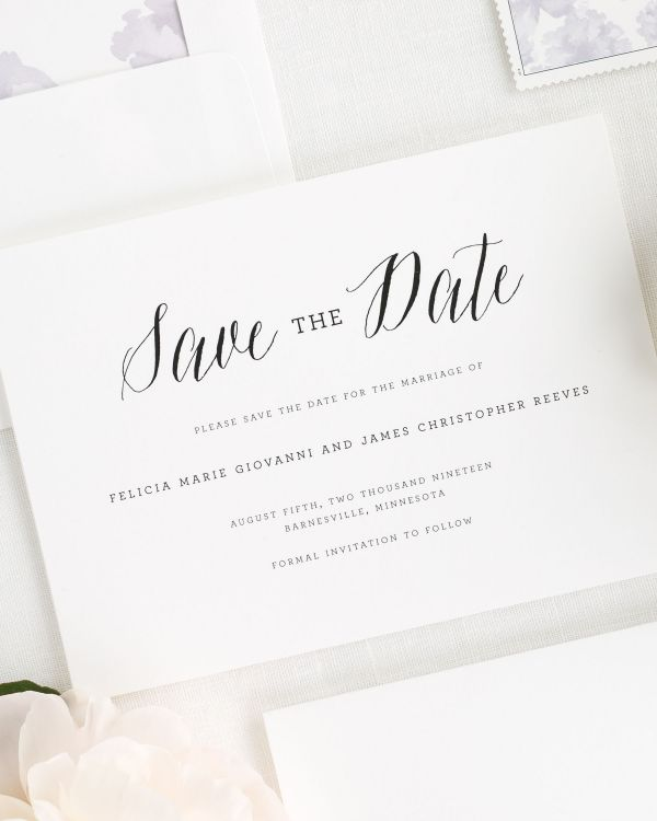 Rustic Romance Save the Date Cards