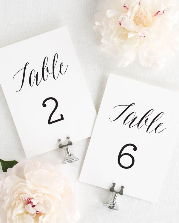 Rustic Romance  Table Numbers