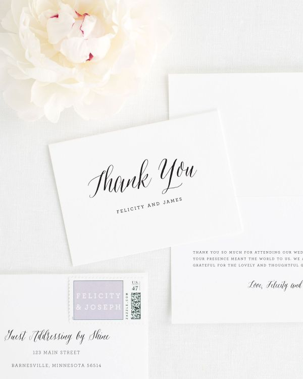Rustic Romance Thank You Cards