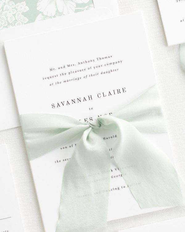 Savannah Ribbon Wedding Invitations