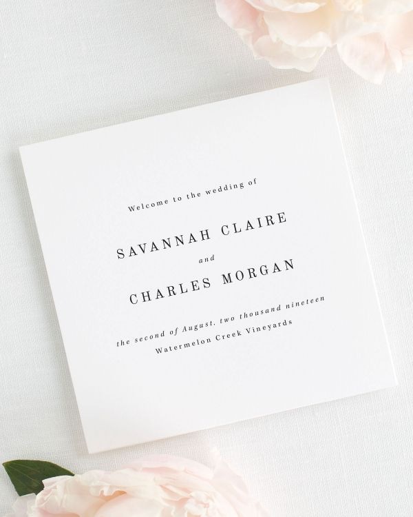 Savannah Wedding Programs