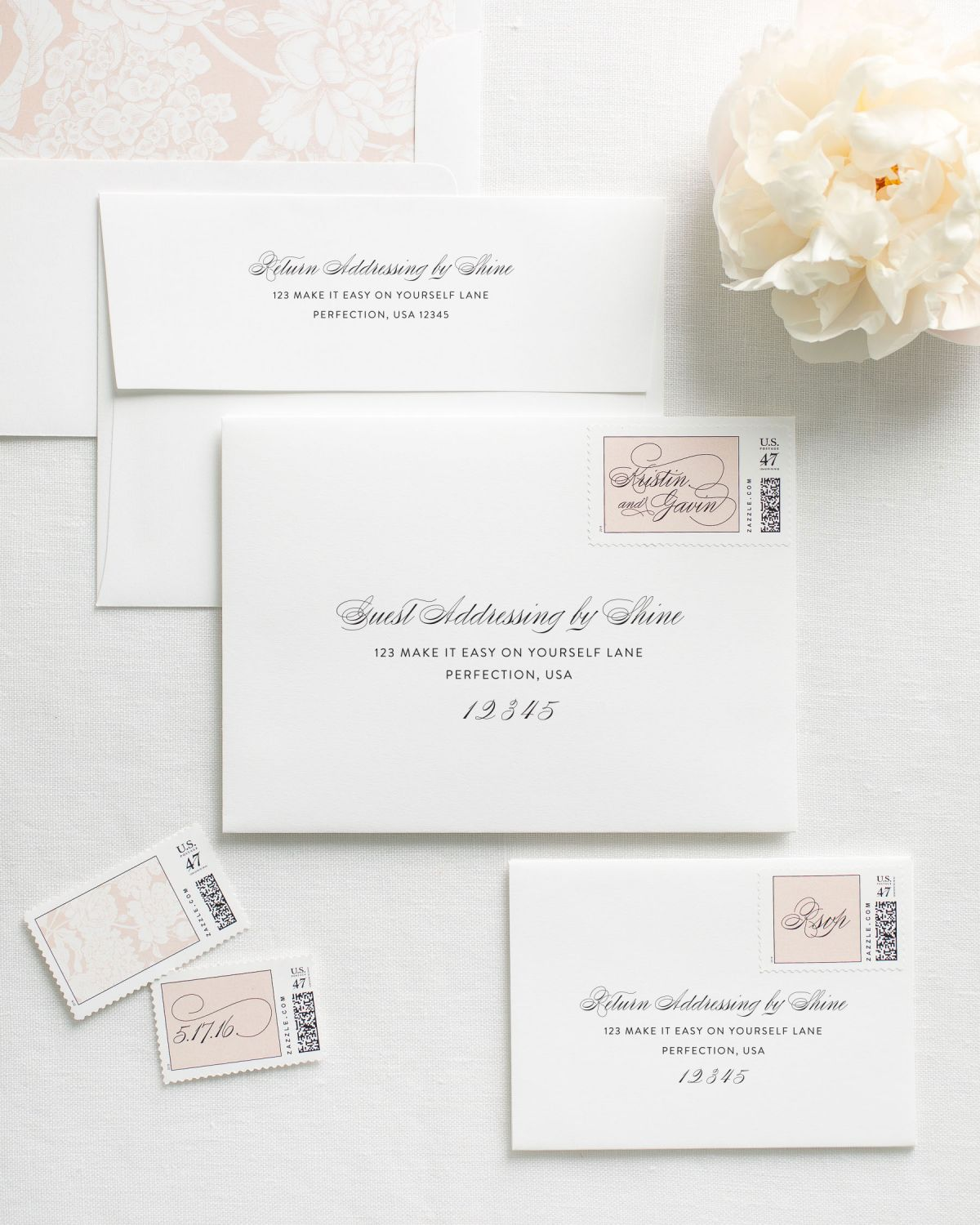 Printed Envelopes for Wedding Invitations