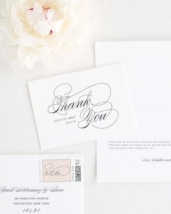 Script Elegance Thank You Cards